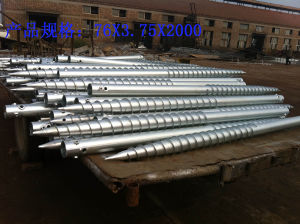 Galvanized Ground Spike Anchor Screw Pile Ground Screw Factory Supply pictures & photos