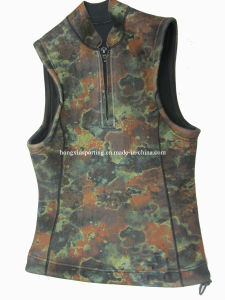 Women′s Neoprene Diving Jacket with Camouflage Lycra Fabric (HXS0001) pictures & photos