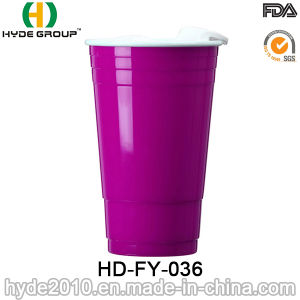 Double Wall Plastic Party Solo Cup with Lid pictures & photos