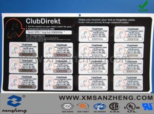 Customized Club Direkt Number Adhesive Stickers pictures & photos