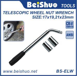 Anti-Slip Handle Extendable Wheel Brace Telescopic Nut Wrench pictures & photos