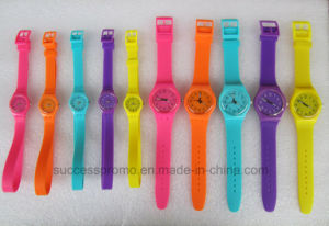 Promotional Price Colorful Candy Watch Jelly Colors Cheap Silicone Watch pictures & photos