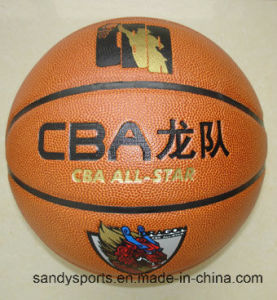 Match Quality Official Size PU Leather Basketball pictures & photos