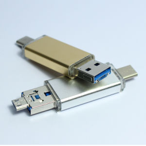 Multi Functions Microsd Type C Card Reader 3 in 1 USB3.0 Microusb Type-C OTG pictures & photos
