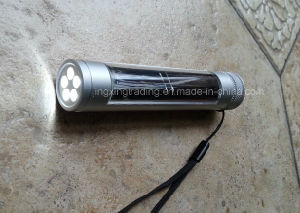 Economical 5 LED Aviation Aluminum Alloy Solar Flashlight (JX-SF009-2) pictures & photos