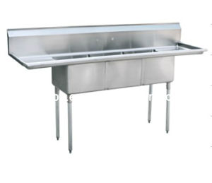 Stainless Steel Compartment Sink (S1-242414-24LR) pictures & photos