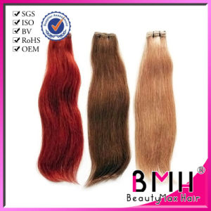 remy processed colored wavy european human hair weft