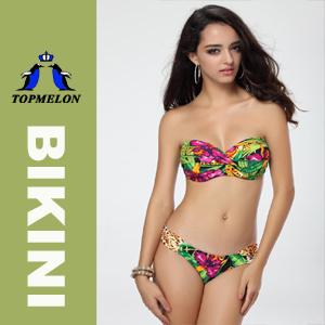 2015topmelon Women′s Bandeau Padded Bikini Set Swimwear Swimsuit (T86A)