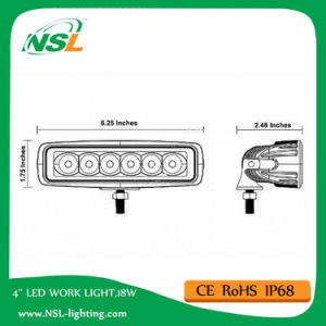 18W LED Driving Lighting Work Light Bar (NSL-1806-18W) pictures & photos