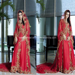 Arabic Red A-Line Applique New Bridal Gowns Wedding Dresses Z9010 pictures & photos