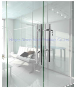 Dimon H Type Stainless Steel Glass Door Handle with Lock Dm-DHL 021 pictures & photos