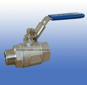 Stainless Steel 2PC Ball Valve with Mf Thread Ends pictures & photos