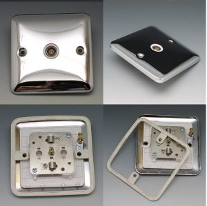 TV Socket/ British Silver Stainless Steel Switch pictures & photos