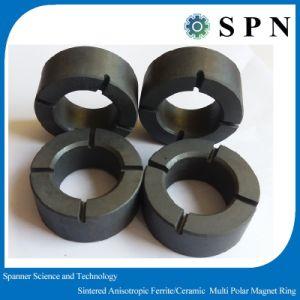 Permanent Ceramic Ferrite Sintered Magnet Rings for DC Motors pictures & photos