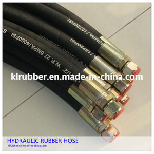 Steel Wire Braided Flexible Rubber Hydraulic Hose Assembly pictures & photos