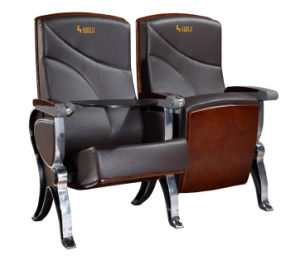 Popular High Class Furniture Auditorium Arm Seating with ABS Writing Pad pictures & photos