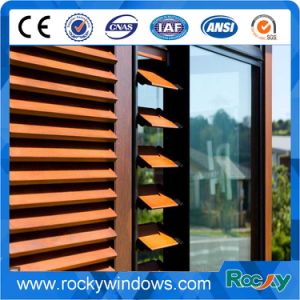 Aluminum Roll Down Shutter Window with Blinds pictures & photos