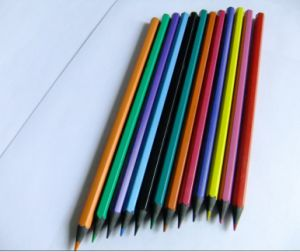 Resin Colored Lead, Recycled Black Material Pencil (PS-814)