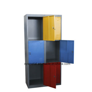 Colorful Kd Structure 6 Door School Furniture Clothes Storage Locker Cabinet with Mirror pictures & photos