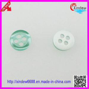 Plastic Green Fashion Dress Button (XDJZ-033) pictures & photos