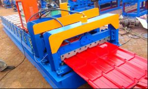 Dixin Galzed Tile Roof Panel Steel Sheet Roll Forming Machine pictures & photos