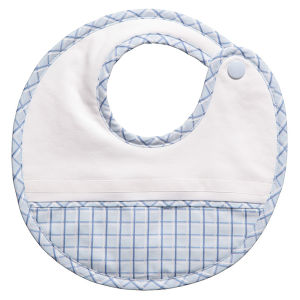 Customized Design White Bamboo Fiber Cotton Baby Bib pictures & photos