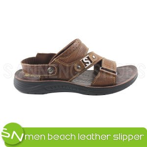 Men Sandal Casual Leather Men Sandal (SNS-05016) pictures & photos