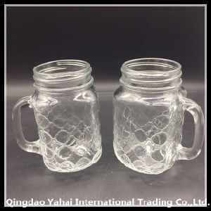 450ml Glass Mason Jar with Pattern pictures & photos
