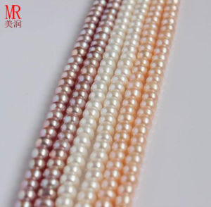 10-11mm High Quality Freshwater Pear Strand, Button Round pictures & photos