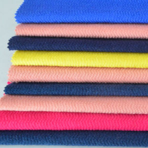 Stock Fashion Herringbone Wool Ployester Blend Knitted Fabric for Coat