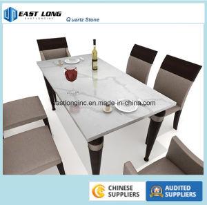 White Calacatta Color Quartz Stone Countertops pictures & photos