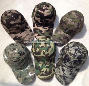 100% Cotton 6 Panels Military Camouflage Baseball Cap (V12001) pictures & photos