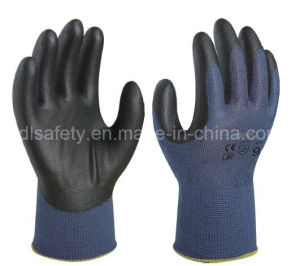Banboo Fiber and Spandex Knitted Working Gloves with Foam Nitrile Coating (N1576) pictures & photos