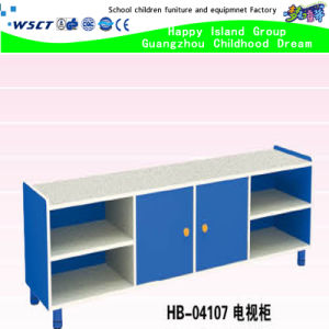 Functional Preschool Collection Rectangle TV Bench Wooden TV Table (HB-04107) pictures & photos