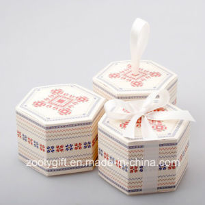 Hexagonal Printing Paper Cardboard Box for Candy Apple Cake pictures & photos