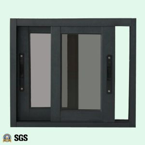 Powder Coated Grey Colour Aluminum Window with Latch Lock, Aluminum Sliding Window K01073 pictures & photos