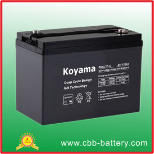 Long Life 220ah 6V Deep Cycle Gel Solar Power Storage Battery pictures & photos