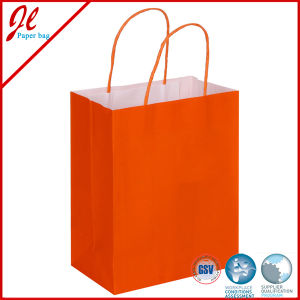 Fsc Printed White Kraft Paper Bags Packaging Bags with Handle pictures & photos