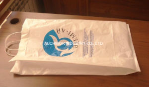 Hot Selling Rigid Handle Heat Seal Square Bottom PE HD Plastic Bags pictures & photos