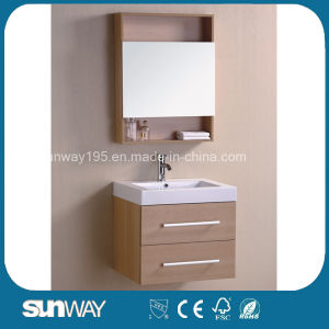 Hot Sale Melamine Bathroom Vanity with Mirror Cabinet (SW-ML1204) pictures & photos