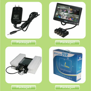 Newest CCTV DVR Standalone with LCD Monitor 700tvl CMOS Camera Phone Mobile Monitoring pictures & photos