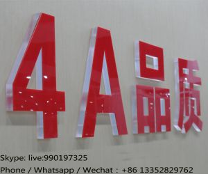 Acrylic Advertising Letter with Sticker for Company Brand pictures & photos