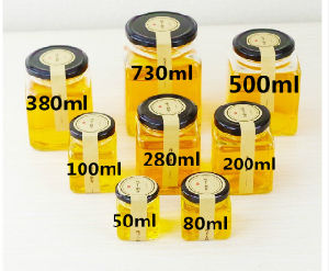 Square Glass Jars for Honey, Food, Pickle, Glass Storage Bottles pictures & photos