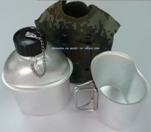 High Quality Aluminium Military Water Bottle with Mess Tin and Camouflage Fabric Cover pictures & photos