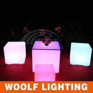 Sit up Colorful Light up LED Cube Chair pictures & photos