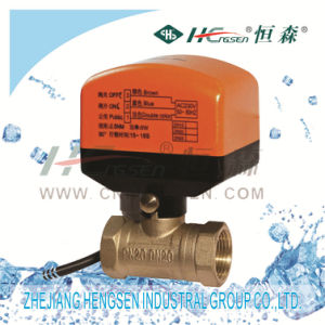 D Q F-C1 Brass Motorized Ball Valve for Heating, Ventilation and Air-Conditioning System pictures & photos