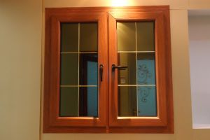 UPVC Casement Window, Suface Coating Timber Grain pictures & photos