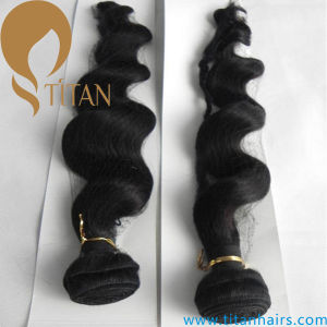 Loose Wave Remy Indian Human Hair Weft pictures & photos