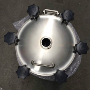 Stainless Steel Sanitary Yaa Circular Pressure Manhole with Welding Ferrule pictures & photos