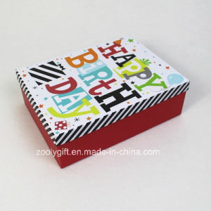 Customize Design Printing Happy Birthday Paper Gift Box pictures & photos